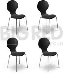 iconic designer furniture. arne jacobsen style stackable wooden round dining chair in black set of 4 iconic designer furniture e