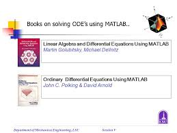 books on solving ode s using matlab