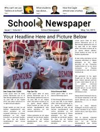 School Newspaper Layout Template Newspaper Templates For Students Uk