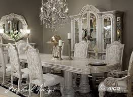 white dining table and chairs in clic styles home design white