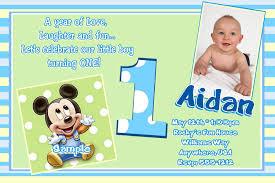 baby mickey mouse st birthday invitation wording contemporary ideas 1st birthday invitation templates