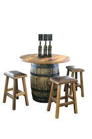 barrel table and chairs reclaimed whisky barrel pub table whiskey barrel chairs reclaimed whiskey barrel pub barrel table