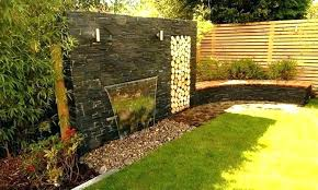 modern outdoor wall fountain waterfall natural stone backyard waterfalls water outside fountains