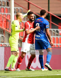 Arnaud Bodart goalkeeper of Standard Liege and Nicolas Gavory... News Photo  - Getty Images