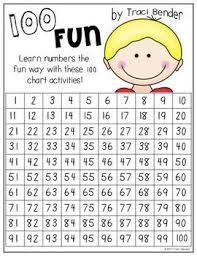 100 Fun 100 Chart Coloring Activities Kindergarten