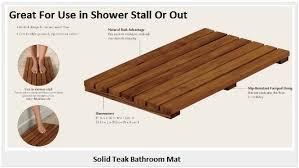 teak bathroom floor mat shower51