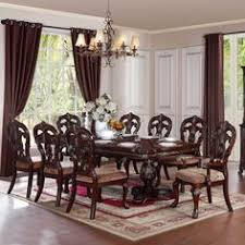 freeport brown 9 piece pedestal extending table dining set featuring polyvore home furniture