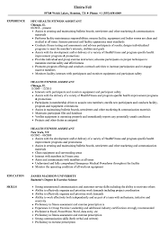 Health Fitness Assistant Resume Samples Velvet Jobs