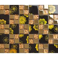 Plated Gold Crystal Mosaic Tile Wall Backsplashes Hall Wall Design Kitchen  Backsplashes KLGTM66