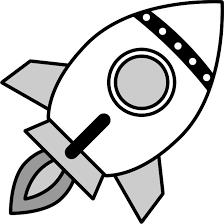 ロケットのイラスト白黒 無料フリーイラスト素材集frame Illust