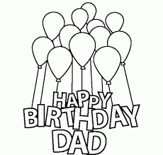 Small Picture Happy Birthday Dad Coloring Pages For Kids Birthdays Pinterest