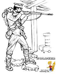 Historic Army Coloring Page Military Army Picture War Free