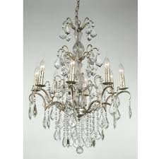 Antique French Light Fixtures Charlotte Silver Antique French Style Chandelier