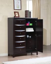 Phoenix Bedroom Furniture Coaster 200420 Phoenix Cappuccino Mans Chest With Storage Drawers