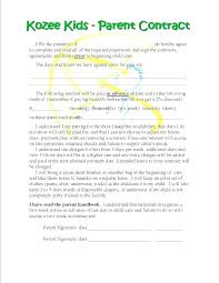 Daycare Contract Template Babysitting Contract Template Sample Daycare Agreement New