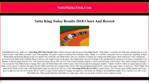 Everything On Sattamatkatrick Com Satta King Chart 2019