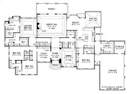 Ranch Style House Plan  5 Beds 550 Baths 5884 SqFt Plan 48433House Palns
