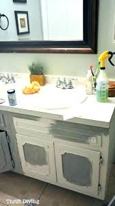 how to spray paint bathroom stunning can you vanity top countertops