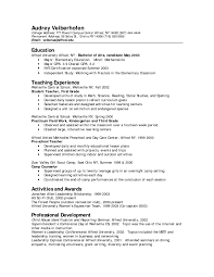Job Winning Preschool Teacher Resume Template Example Featuring