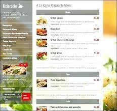 A La Carte Menu Template Modern Menu Template Restaurant Menu Templates Want To