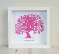 personalised 3d paper cut family tree box frame art print on 3d paper cut wall art with personalised 3d paper cut family tree box frame art print from