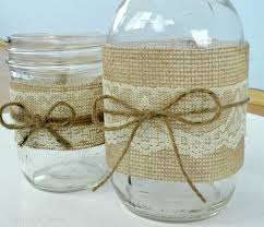 Burlap And Lace Mason Jar Centerpieces Burlap Lace Mason Jars Tulips A  Terrier Mason Jar And