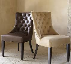 brilliant hayes tufted leather dining side chair pottery barn leather dining room chair ideas