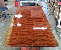 Custom Made Live Edge Bubinga Dining Table By Donald Mee Designs
