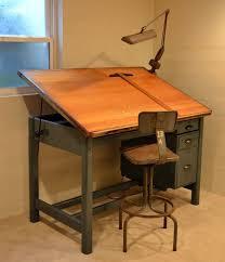 drafting table desk. 18 Drafting Tables In Interior Designs Interiorforlife.com Vintage Industrial Tilt Top Desk Table