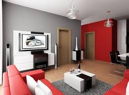 White furniture room ideas Decorating Ideas Contemporary Apartment Living Room Ideas In Red Gray Tone Combination Black White Furniture And Wooden Doors Kyeanorg Decorating Contemporary Apartment Living Room Ideas In Red Gray