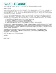 Leading Professional Inventory Manager Cover Letter Examples