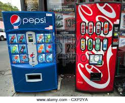 Pepsi Cola Vending Machines Adorable Pepsi Cola And Coca Cola Vending Machines Side By Side Stock Photo