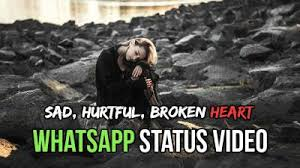 Sad Breakup Quotes Stunning WhatsApp Status Video Of Sad Heartbreak Lost One Sided Love Hurt