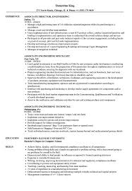 Associate Engineering Resume Samples Velvet Jobs