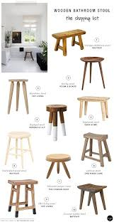 image quarter bamboo bathroom stool  best wooden bathroom stools my paradissi