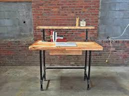 diy pallet iron pipe. Wooden Pallet And Steel Pipe Computer Desk Diy Iron N