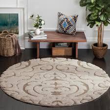 florida cream beige 7 ft x 7 ft round area rug