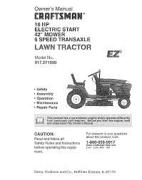 craftsman lawn mower 917 27103 user guide manualsonline com Mastercraft Lawn Tractor Wiring Diagram Mastercraft Lawn Tractor Wiring Diagram #25 craftsman lawn mower wiring diagram