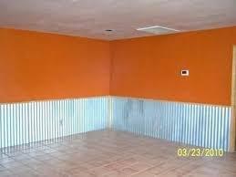 corrugated metal wainscoting using corrugated tin for ceiling ugly corrugated metal wainscoting orange paint phoenix home corrugated metal