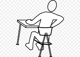 office desk clipart black and white. Delighful And Standing Desk Sitting Office U0026 Desk Chairs  Uncomfortable Student Cliparts To Clipart Black And White R
