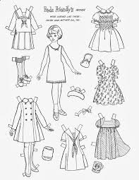 Small Picture 165 best Paper doll coloring pages images on Pinterest Vintage