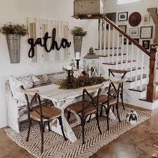 dining room decor ideas. Stunning Rustic Farmhouse Dining Room Decor Ideas (71)
