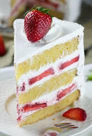 slice of strawberry cake. Simple Slice Strawberry Shortcake On Slice Of Cake OMG Chocolate Desserts