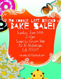 the deets no cookie left behind bake bake flier