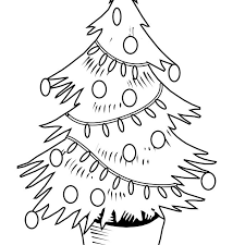Printable Christmas Tree Free Christmas Tree Coloring Pages For The Kids