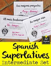 Formal Certificates Spanish Superlatives End Of Year Award Certificates Formal Theme