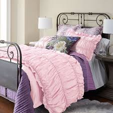 romantic seerer pink simply shabby chic ruffle elegant girls twin full queen size bedding sets