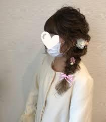 ロング ヘアアレンジ 編み込みヘア 成人式ヘアhair Salon Stella Mai
