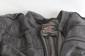 alpinestars leather motocross jacket size xl