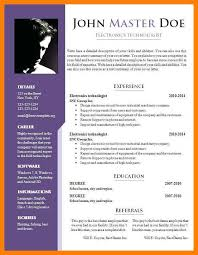 Curriculum Vitae Format Doc Biodata Sample Doc Resume Format Doc